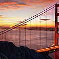 Sunrise Over The Golden Gate Bridge by Brian Jannsen