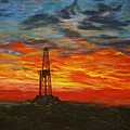 Sunrise Rig by Karen  Peterson