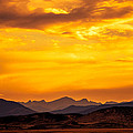 Sunset And Smoke Covered Mountains by Rebecca Adams