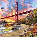 Sunset At Golden Gate by Dominic Davison
