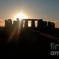 Sunset At Stonehenge 3 by Deborah Smolinske