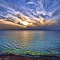 Sunset At The Cliff Beach by Ron Shoshani