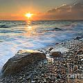 Sunset Beach Seascape by Katherine Gendreau