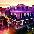 Sunset from the Balcony in the French Quarter of New Orleans