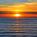Sunset In San Clemente by Mariola Bitner