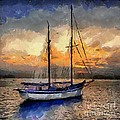 Sunset In The Bay by Dragica  Micki Fortuna