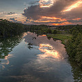 Sunset On The Guadalupe River by Paul Huchton