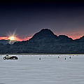 Sunset On The Salt Bonneville 2012 by Holly Martin