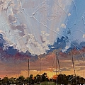 Sunset Over Bay Point Print by Laura Lee Zanghetti