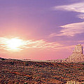 Sunset Over Mountain Valley by Aged Pixel
