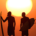 Sunset Surfers by Sean Davey