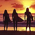 Surfer Girl Silhouettes by Sean Davey