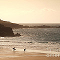 Surfers On Beach 03 by Pixel Chimp