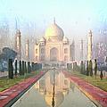 Taj Mahal In The Rai...