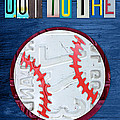 Take Me Out To The Ballgame License Plate Art Lettering Vintage Recycled Sign by Design Turnpike