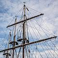 Tall Ship Masts Print by Dale Kincaid