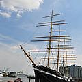 Tall Ship Mushulu at Penns Landing Print by Bill Cannon