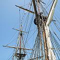 Tall Ship Rigging Print by Dale Kincaid