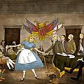 Tammy in Independence Hall Print by Reynold Jay