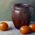 Tangerines Print by Janet King