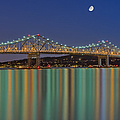Tappan Zee Bridge Reflections Poster by Susan Candelario