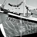Tarpon Springs Spongeboat Black And White by Benjamin Yeager