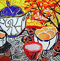Tea And Eggs  by Diane Fine