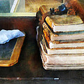 Teacher - Old School Books And Slate by Susan Savad