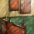 Teacher - The Teachers Desk Print by Mike Savad