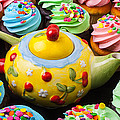 Teapot And Cupcakes  by Garry Gay