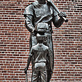 Ted Williams Statue - Boston Print by Joann Vitali