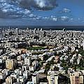 Tel Aviv center Print by Ron Shoshani