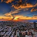 Tel Aviv Sunset Time by Ron Shoshani