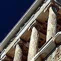 Temple Of Athena Nike Columns by John Rizzuto