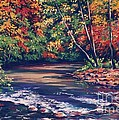 Tennessee Stream in the Fall Print by John Clark