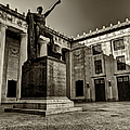 Tennessee War Memorial Black And White by Joshua House