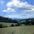 Tennessee's Rolling Hills And Clouds by Erin Rickelton