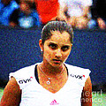Tennis Player Sania Mirza Poster by Nishanth Gopinathan
