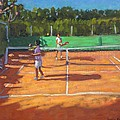 Tennis Practice by Andrew Macara
