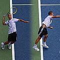 Tennis Serve by Mikhail Youzhny Print by Nishanth Gopinathan