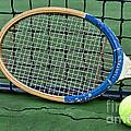 Tennis - Vintage Tennis Racquet by Paul Ward