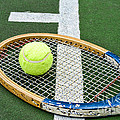 Tennis - Wooden Tennis Racquet by Paul Ward