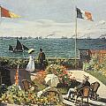 Terrace At Sainte-andresse by Claude Monet