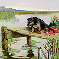 Terrier - Fishing by Philip Eustace Stretton