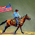 The All American Cowboy Print by Randy Follis