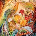 The Angels On Wedding Triptych - Left Side by Elena Kotliarker