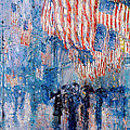 The Avenue In The Rain Print by Frederick Childe Hassam
