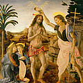 The Baptism Of Christ By John The Baptist by Leonardo da Vinci