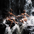 The Birth Of The Double Star. Anna At Eureka Waterfalls. Mauritius. Tnm by Jenny Rainbow