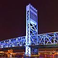 The Blue Bridge - Main Street Bridge Jacksonville by Christine Till
